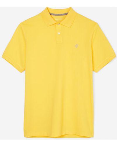 Żółty t-shirt bawełniany Marc O Polo