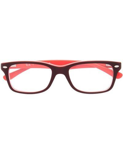 Красные очки квадратные Ray Ban Junior