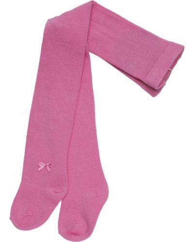 Хлопковые розовые колготки Miss Blumarine