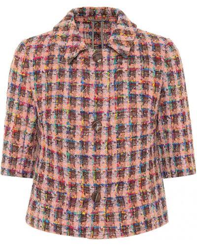 Куртка твидовая с опушкой Etro