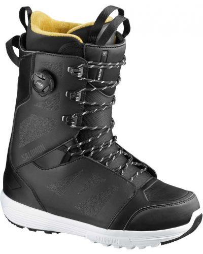 Кружевные желтые ботинки на шнуровке Salomon