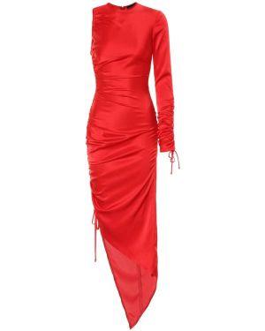 Вечернее вечернее платье с оборками David Koma