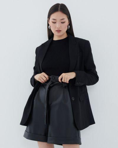 Черные шорты из полиэстера Zarina