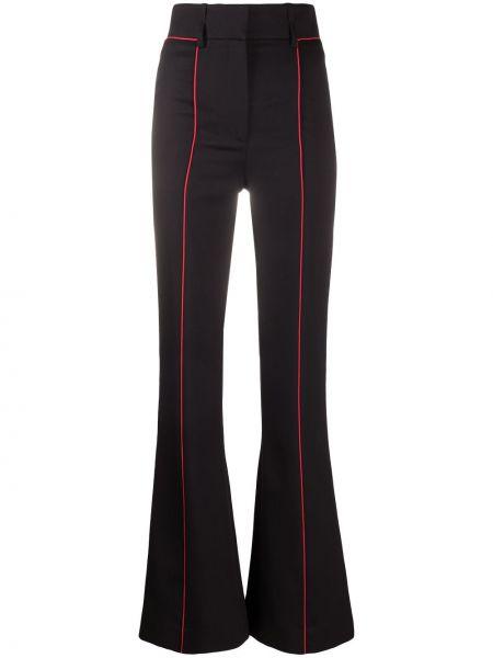 Wełniany rozbłysnął czarny spodnie z kieszeniami Givenchy