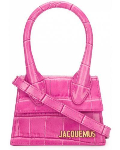 Розовая маленькая сумка круглая Jacquemus