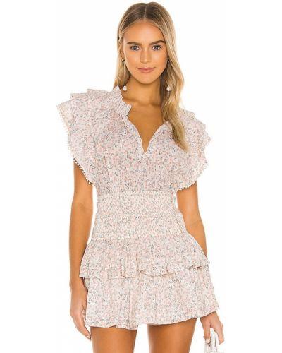 Деловая розовая блузка с декольте Cleobella