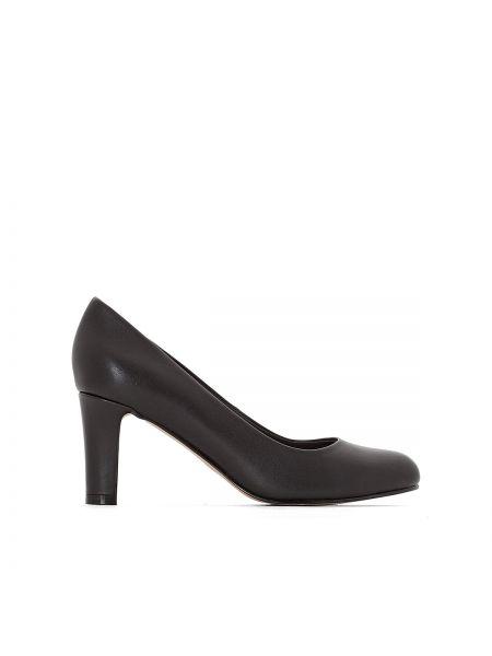 Кожаные туфли на каблуке на широкую ногу Anne Weyburn