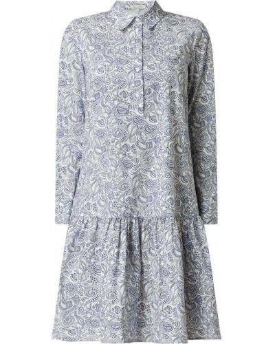 Sukienka rozkloszowana z falbanami - biała Marc O'polo