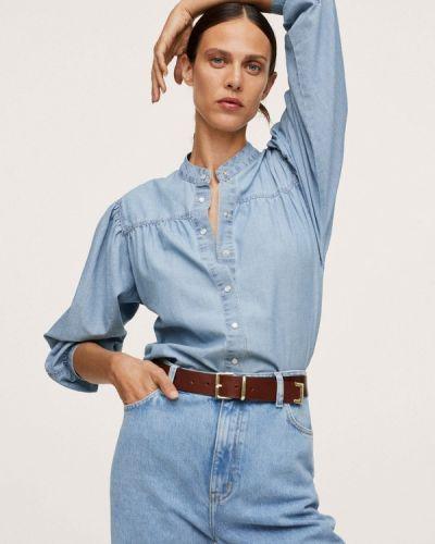 Голубая джинсовая джинсовая рубашка Mango