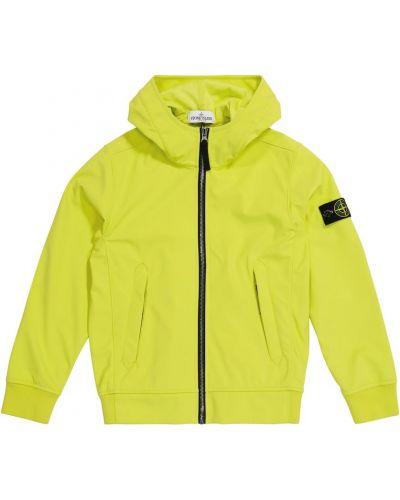 Куртка с капюшоном - желтая Stone Island Junior