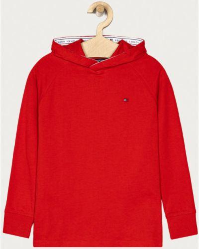 Прямая красная трикотажная блузка Tommy Hilfiger