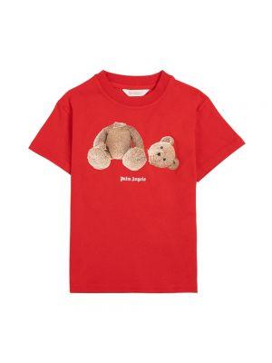 T-shirt bawełniana - czerwona Palm Angels