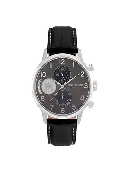 С ремешком кожаные часы на кожаном ремешке круглые Kenneth Cole