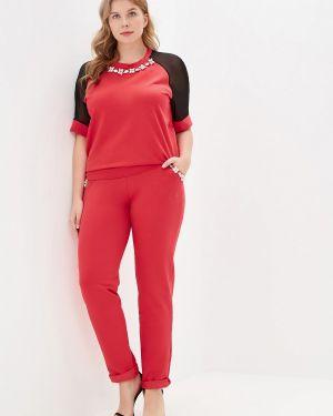 Брючный костюм красный коралловый Prewoman