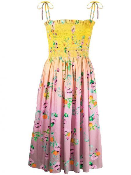 Хлопковое платье миди Cynthia Rowley