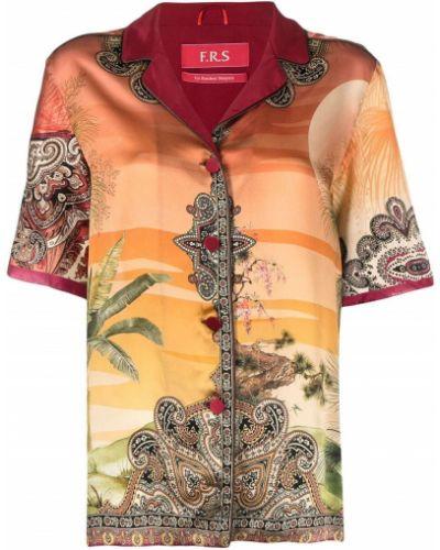 Рубашка с коротким рукавом - оранжевая F.r.s. For Restless Sleepers
