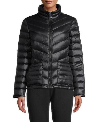 Черная теплая пуховая длинная куртка Calvin Klein