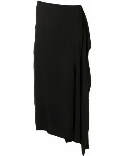 Asymetryczny z wysokim stanem czarny spódnica z kieszeniami Yohji Yamamoto
