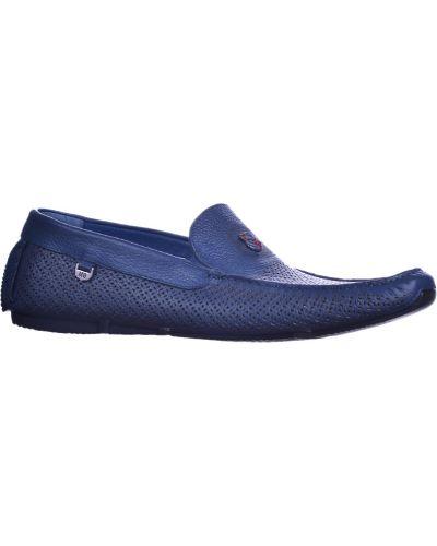 Кожаные мокасины - синие Mario Bruni