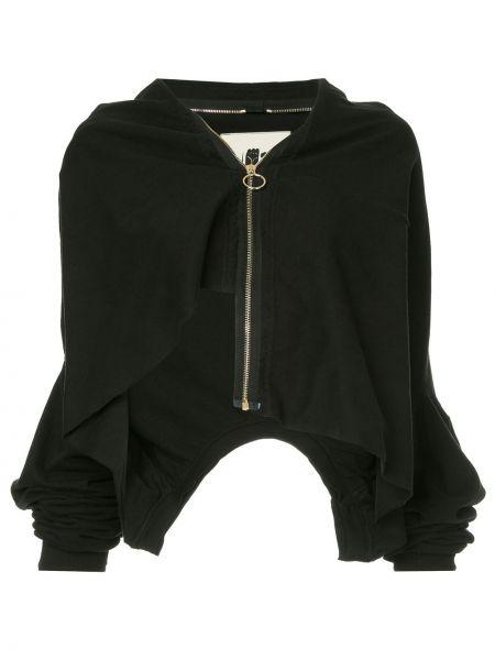 Черная куртка на молнии с воротником Aganovich