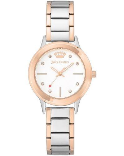 Biały zegarek mechaniczny srebrny kwarc Juicy Couture