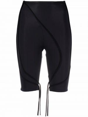 Черные с завышенной талией шорты эластичные Ottolinger