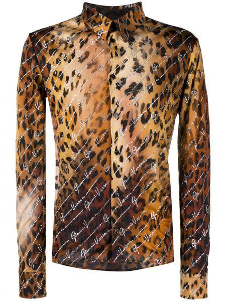 Koszula z długim rękawem klasyczna z nadrukiem Versace