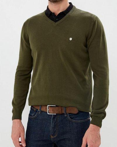Пуловер желтый зеленый Jimmy Sanders