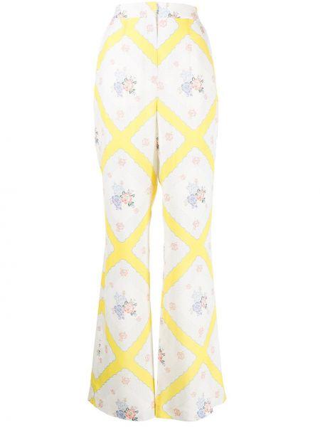Шелковые брюки - желтые Alice Mccall