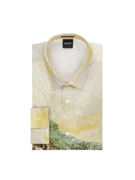 Koszula z długim rękawem długa z kołnierzem Boss