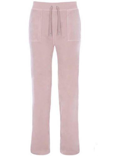 Różowe klasyczne spodnie Juicy Couture