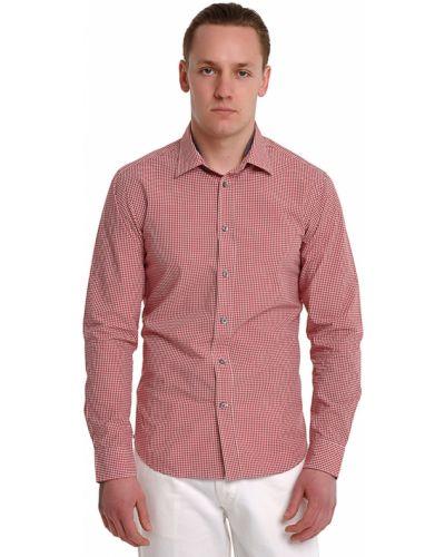Оранжевая рубашка хлопковая Ermenegildo Zegna