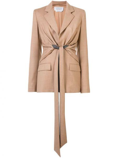 Шерстяной пиджак с карманами на пуговицах Gabriela Hearst
