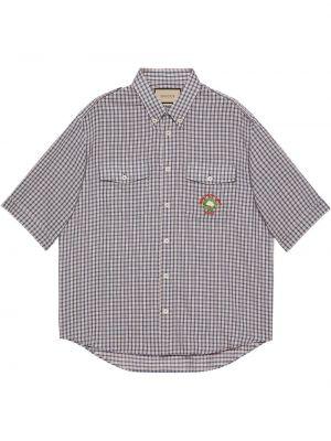 Koszula z printem - beżowa Gucci