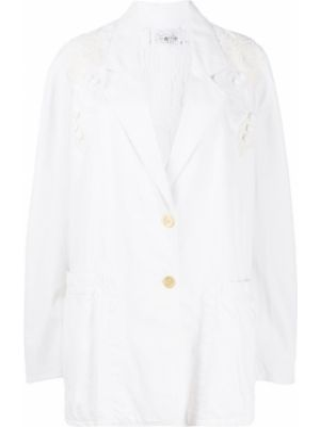 Белый пиджак на пуговицах с вышивкой A.n.g.e.l.o. Vintage Cult