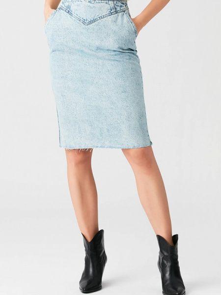 Джинсовая юбка весенняя Love Republic