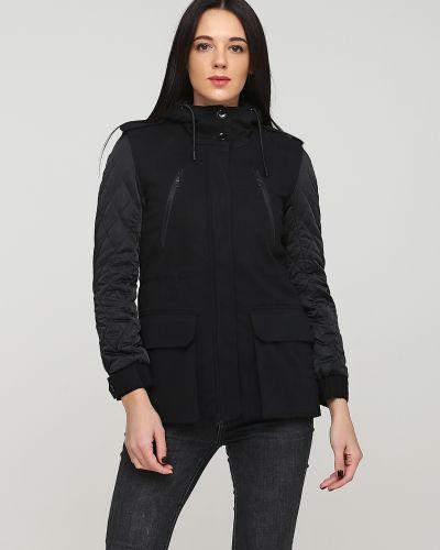 Черная куртка с капюшоном Kookai
