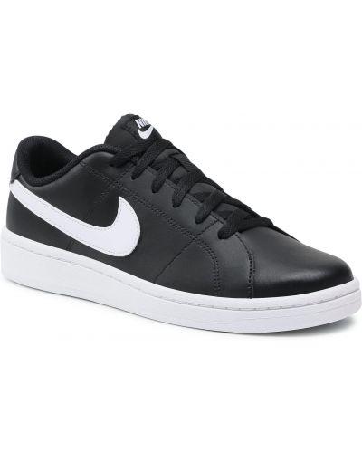 Półbuty skórzane - czarne Nike