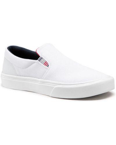 Białe majtki w paski Tommy Hilfiger