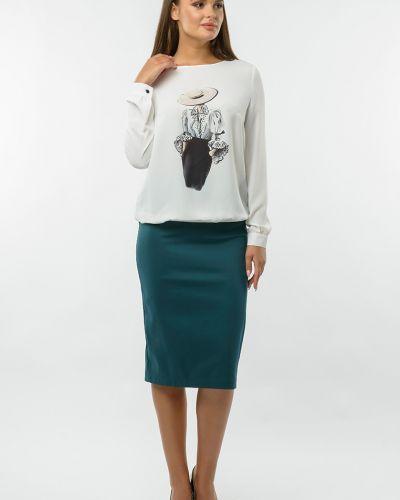 Блузка с вырезом круглая с рисунком Remix