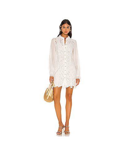Платье мини с вышивкой на пуговицах Elliatt