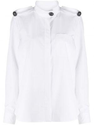 Хлопковая с рукавами белая рубашка Maison Rabih Kayrouz