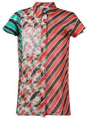 Шелковая рубашка в полоску Marco De Vincenzo