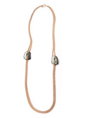 Różowy złoty naszyjnik perły Mattioli