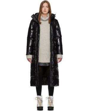 Пальто с капюшоном длинное стеганое Duvetica