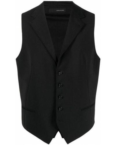 Czarna kamizelka elegancka wełniana Tagliatore