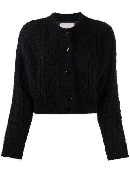Шерстяное черное длинное пальто с подкладкой Laneus