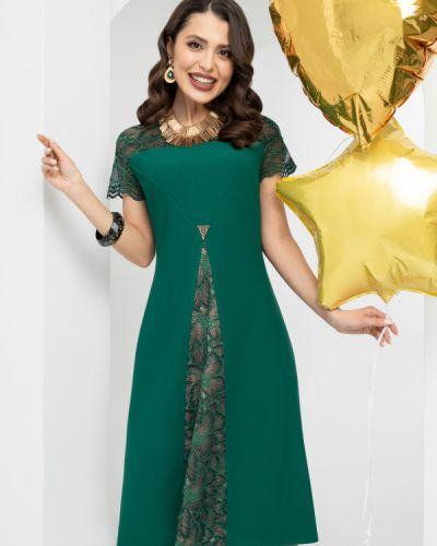 Кружевное нарядное трикотажное платье Charutti