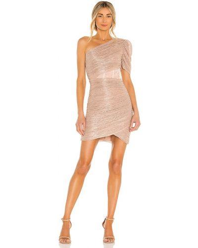 Różowa sukienka mini z siateczką Bcbgmaxazria