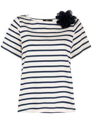 Niebieski t-shirt bawełniany krótki rękaw Seventy